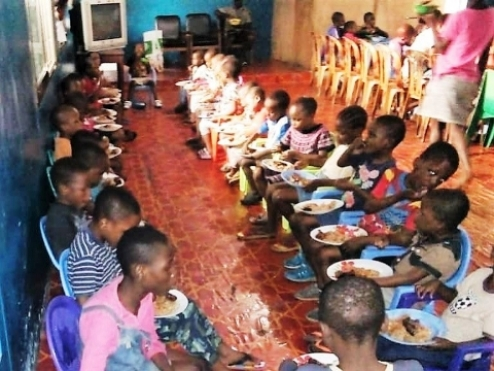 Successful Shipment of a Container with Food for Congo & Distribution in Orphanages in Kinshasa