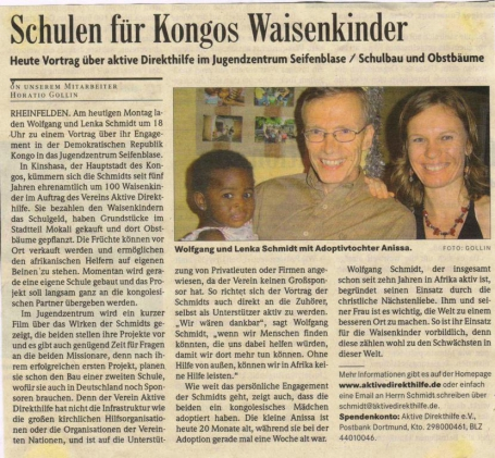 Badische Zeitung - Interview with ADH (German)