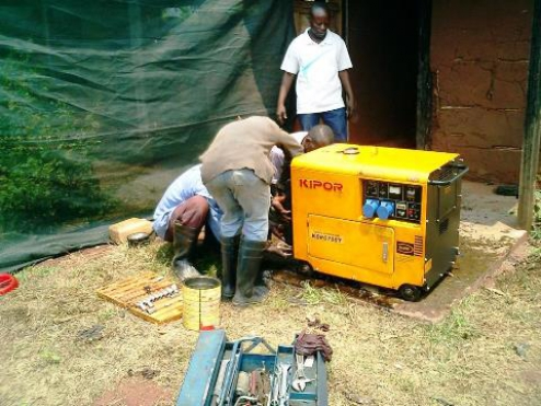 "A generator and two ""Pousse Pousse"""