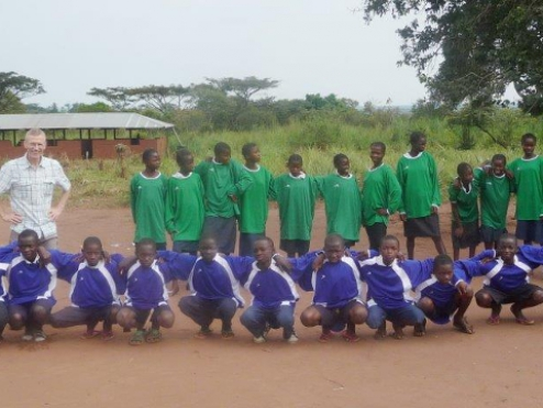 Soccer jerseys for FC Mushapo and for schools in nearby villages