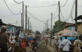 Straße in Kinshasa.