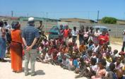 ...with over 100 children from the orphanage Baphumulele in Khayelitsha at a Christmas Party.