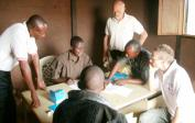 School official fills out registration in Mushapo.
