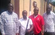 """ADH Congo"" nos membres Gilbert, André & Francois rencontre avec Jean à Kinshasa"