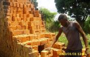 After one week of burning, the bricks are taken from the kiln and stored for later use.