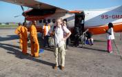 Wolfgang leaving Kinshasa en route to Nioki