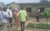 World Bank representatives came from Kinshasa to see the palm nut nursery and our chicken and rabbit project