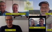 ADH yearly meeting, first time online: Wolfgang & Lenka, Rudolf, Andreas, Melanie & Jens and Jos