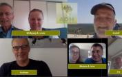 ADH-Jahrestreffen, zum ersten Mal online: Wolfgang und Lenka, Rudolf, Andreas, Melanie und Jens sowie Jos
