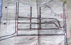 Der einzige existierende Stadtplan von Mushapo