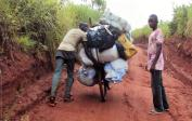 6. Pushing heavily loaded cargo bike for long distances