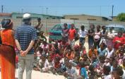 6. Left: Wolfgang visiting school in S. Africa